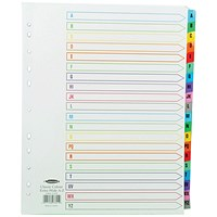 Concord Index A-Z A4 Extra Wide Multicoloured Mylar Tabs