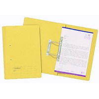 Guildhall Transfer Files, 285gsm, Foolscap, Yellow, Pack of 25