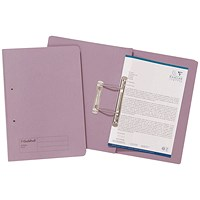 Guildhall Transfer Files, 285gsm, Foolscap, Mauve, Pack of 25