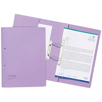 Guildhall Front Pocket Transfer Files, 315gsm, Foolscap, Purple, Pack of 25