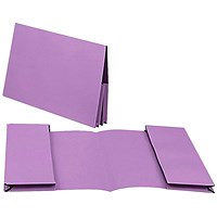 Guildhall Legal Wallets, Double 35mm Pocket, Manilla, 315gsm, Foolscap, Mauve, Pack of 25