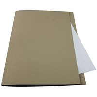Guildhall Square Cut Folders, 250gsm, Foolscap, Buff, Pack of 100