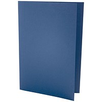 Guildhall Square Cut Folders, 250gsm, Foolscap, Blue, Pack of 100