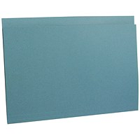 Guildhall Square Cut Folders, 290gsm, Foolscap, Blue, Pack of 100
