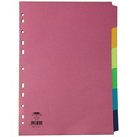 Concord Subject Dividers, 6-Part, A4, Bright Assorted