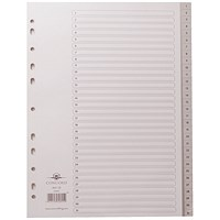 Concord Subject Dividers, 1-31, Grey Tabs, A4, White