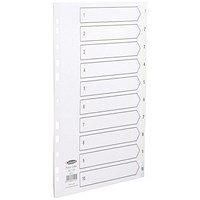 Concord Index Dividers, 1-10, A4, White