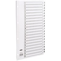 Concord Index Dividers, 1-20, A4, White