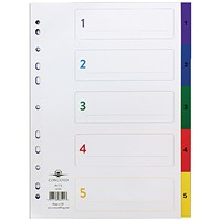 Concord Index 1-5 A4 Plastic Multicoloured