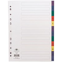 Concord Index 1-12 A4 Plastic Multicoloured