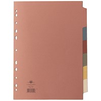 Concord Subject Dividers, 6-Part, A4, Assorted