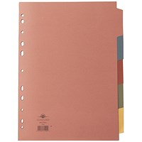 Concord Subject Dividers, 5-Part, A4, Assorted, Pack of 5