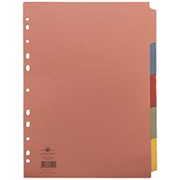 Concord Divider 5-Part A4 160gsm Multicoloured