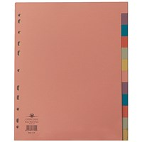 Concord Subject Dividers, Extra Wide, 12-Part, A4, Assorted