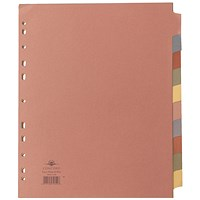 Concord Subject Dividers, Extra Wide, 10-Part, A4, Assorted