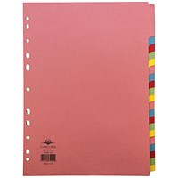 Concord Divider 20-Part A4 160gsm Multicoloured