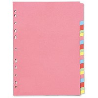 Concord Subject Dividers, 20-Part, A4, Assorted