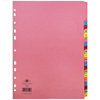 Concord Subject Dividers, A-Z, Multicoloured Mylar Tabs, A4, Assorted