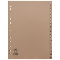Concord Everyday Dividers, A-Z, A4, Buff