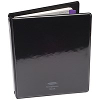 Concord Telephone/Address Book A5 Black