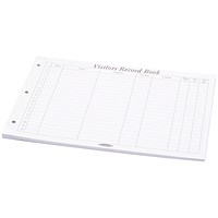 Concord Refill for CD14P Visitors Book, 220x296mm, 50 Sheets, 2000 Entries