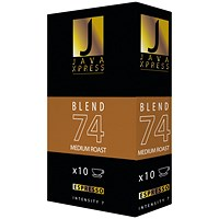 Java Xpress Blend 74 Coffee Capsules (Pack of 100)