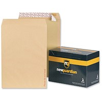 New Guardian C3 Heavyweight Board-backed Envelopes, 130gsm, Peel & Seal, Manilla, Pack of 50