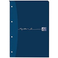 Oxford MyNotes Headbound Refill Pad, A4, Ruled with Margin, 4 Holes, 160 Pages, Pack of 5
