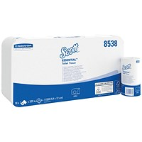 Scott Performance Toilet Tissue, White, 2-Ply, 320 Sheets per Roll, 18 Twin Packs (36 Rolls)