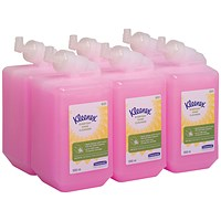 Kleenex Everyday Use Hand Soap Refill 1 Litre (Pack of 6) 6331