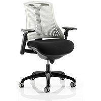 Flex Task Operator Chair, Black Seat, White Back, Black Frame