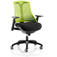 Flex Task Operator Chair, Black Seat, Green Back, Black Frame