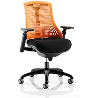 Flex Task Operator Chair, Black Seat, Orange Back, Black Frame