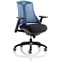 Flex Task Operator Chair, Black Seat, Blue Back, Black Frame