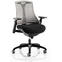 Flex Task Operator Chair, Black Seat, Grey Back, Black Frame