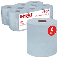 WypAll L20 Centrefeed Blue (Pack of 6) 7302
