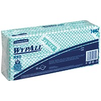 Wypall X50 Cleaning Cloths, Green, Pack of 50