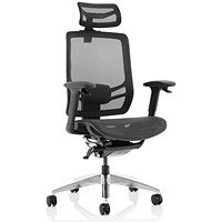 Ergo Click Operator Chair, Mesh Seat, Mesh Back, With Headrest, Black