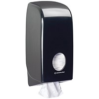 Aquarius Bulk Pack Toilet Tissue Dispenser Black 7172