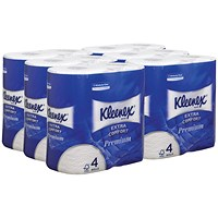Kleenex Comfort 4-Ply Quilted Toilet Roll, Pack of 24