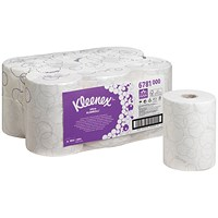 Scott 6781 Ultra Slimroll Hand Towel Rolls, 2-Ply, White, Pack of 6