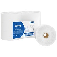 Kleenex Jumbo Toilet Tissue White 190m (Pack of 6) 8570