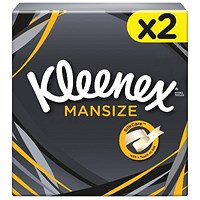 Kleenex Mansize Tissues Box 44 Sheets (Pack of 2)