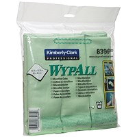 Wypall Microfibre Cloth Green (Pack of 6) 8396