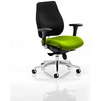 Chiro Plus Ergo Posture Chair, Black Back, Myrrh Green