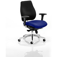 Chiro Plus Ergo Posture Chair, Black Back, Stevia Blue