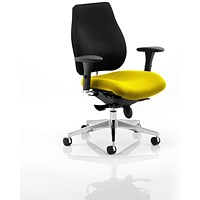 Chiro Plus Ergo Posture Chair, Black Back, Senna Yellow