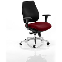 Chiro Plus Ergo Posture Chair, Black Back, Ginseng Chilli