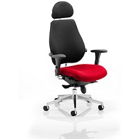 Chiro Plus Ultimate Posture Chair, With Headrest, Black Back, Bergamot Cherry