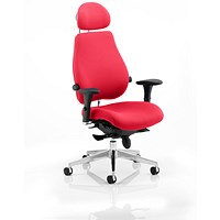 Chiro Plus Ultimate Posture Chair, With Headrest, Bergamot Cherry